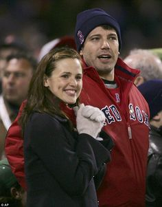 New romance: Ben and Jennifer went public as a couple at the baseball World Series in his native Boston in October 2004