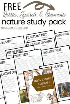 Grab the free Rabbits, Squirrels, and Chipmunks Nature Study Journal Pack. This journal was created to go along with the Take-Along Guide: Rabbits, Squirrels, and Chipmunks. #homeschool #naturestudy #notebooking #hs #hsbloggers #charlottemason