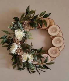 Items similar to Country Wreath Spring wreath cabin wreath wall decor log wreath wreath rustic wreath primitive wreath nature wreath natural wreath on Etsy Holiday Crafts, Christmas Diy, Holiday Decor, Holiday Ideas, Diy Christmas Decorations, Simple Christmas, Wedding Decorations, Spring Decorations, Diy Decorations Crafts
