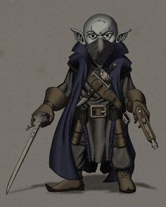 Fantasy Character Design, Character Drawing, Character Concept, Character Ideas, Dungeons And Dragons Characters, D D Characters, Fantasy Characters, Deep Gnome, Rogue Dnd