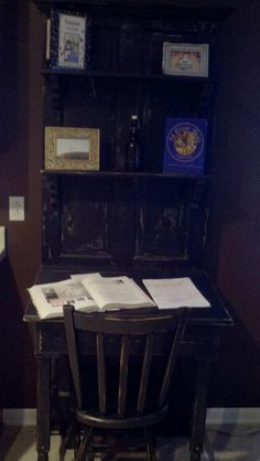 This desk is made out of an old door from the 1930's.