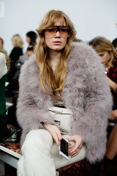 On the Scene…Front Row at Etro, Milan Sartorialist #fashion