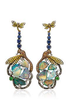 Dragonfly Diamond Earrings by Wendy Yue for Preorder on Moda Operandi