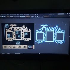 """New vector layout: frame """"Family""""  I draw files for laser cutting and CNC machines to order and according to your parameters.  It's great if you write me what layouts you would like to see.  Contact me if you need to quickly draw a layout. :)"""