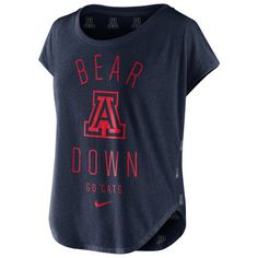 Nike: Arizona Bear Down Gameday Signal Tri-Blend Navy Tee