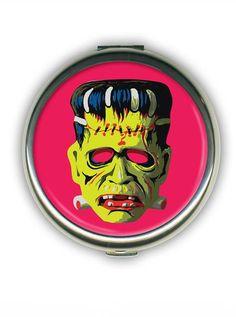 Big Frank Round Compact by Retro-a-go-go #InkedShop #compact #Frankenstein