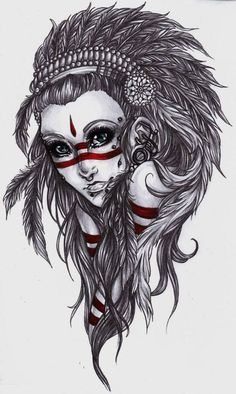 shaman woman art tatoo - Szukaj w Google