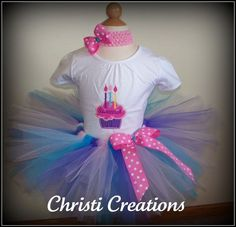 Party Time Custom Boutique Birthday Tutu and by ChristiCreations, $52.00