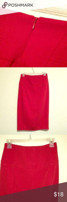 Victoria Secret. Body by VS. Red Pencil Skirt 😍 Victoria Secret. Body by VS. Red Pencil Skirt 😍  Great condition only worn once body by Victoria red pencil skirt with zipper. (Back) Victoria's Secret Skirts Pencil