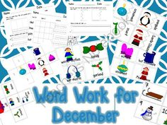 December Word Work - Follow my shop, and enter for a chance to receive a month's worth of activities for the month of December for your Word Work station. Teach your students vocabulary that relates to the season! Don't forget to write a review!.  A GIVEAWAY promotion for Word Work for December from teacherof20 on TeachersNotebook.com (ends on 11-28-2014)