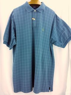 Nautica-Mens-Golf-Polo-Shirt-Size-XXLGray-Blue-100-Cotton-Dry-Cleaned