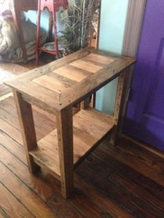 reclaimed wood end table side table pallet wood by RAWOODESIGNS, $125.00