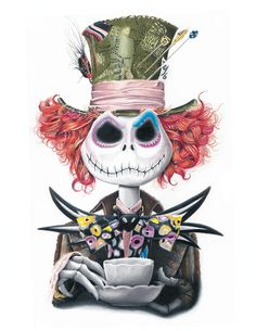 Nightmare Before Christmas Alice in Wonderland - Tim Burton