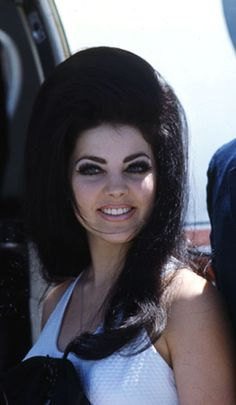 Priscilla Presley. I can't explain Why but at some point I decided that this was the best, prettiest look EVER-dark, high bouffant (or beehive, I like that too) hair, false lashes, pale lips, lots of eyeliner. LOOOOVE <3