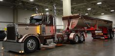 Big Truck Driver added a new photo. Show Trucks, Big Rig Trucks, Hot Rod Trucks, Lifted Trucks, Custom Big Rigs, Custom Trucks, Peterbilt Dump Trucks, Peterbilt 379, Dump Trailers