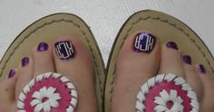 monogram toes, it this too much? Nahh. ;)