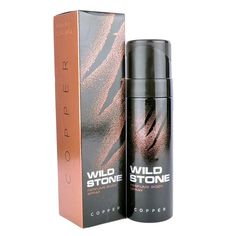 Wild Stone Copper Body Spray - 120 ml available at Crazzy Bazaar Voss Bottle, Water Bottle, Body Spray, Online Shopping Stores, Deodorant, Digital Camera, Fragrance, Copper, Perfume