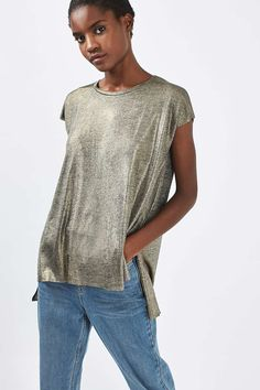 **Foil Side Split T-Shirt by Nobody's Child - Tops - Clothing - Topshop