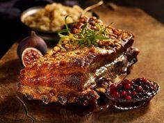 Slik steker du ribbe med sprø svor Steak, Pork, Ribe, Kale Stir Fry, Steaks, Pork Chops, Beef