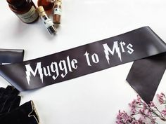 This 'Muggle to Mrs' sash from Shades of Pink BTQ is a classy hen party accessory that will add the perfect finishing touch to any hen party costume.