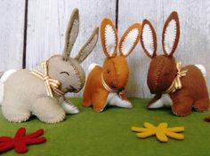 These Corinne Lapierre kits contain everything you need to make three cuter than cute bunny rabbits.