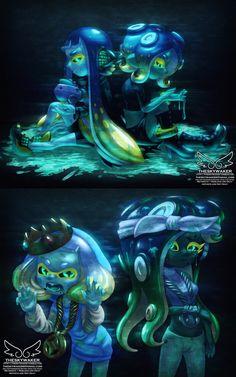 Splatoon 2 Game, Nintendo Splatoon, Splatoon Comics, Splatoon Cosplay, Game Character, Character Design, Pokemon, Kawaii Drawings, Art Boards