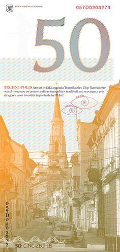 Romanian banknotes design  - Zana Zorilor/Cluj-Napoca [50 lei]