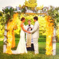 Outside wedding.