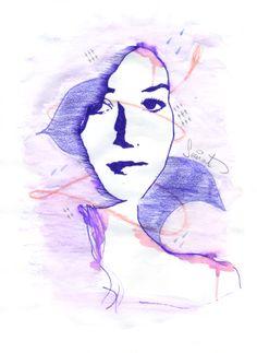 Xènia Il·lustració Tinta aquarela i llapís de color . Ilustracion Semat