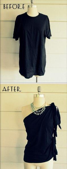 Who knew a humble t-shirt could look so elegant. --Pia (DIY t-shirt)