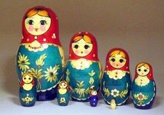 Russian Nesting Dolls (Matryoshka) Part 42851 - 8 Piece Nolinsk with Straw Inlay