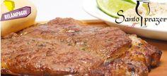 Contra Filé na Tábua, farofa, maionese e pão + Jarra de Chopp Pilsen de 1,5l,de R$50,80 por R$24,90, no Santo Prazer Grill(Mercado Eco Palhano)