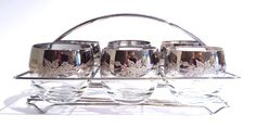 silver mad men glasses with caddyroly poly glasse by RetrouverBiz