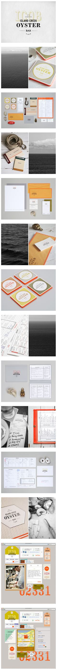 logo, identity branding, brand identity, ident brand, oyster bar, island creek, design, oat, creek oyster