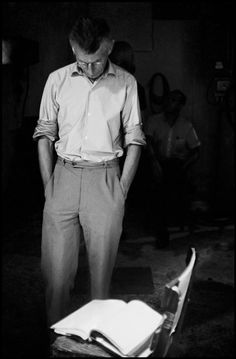 Samuel Beckett, NYC by Bruce Davidson Samuel Beckett, Writers And Poets, Writers Write, Go On Meaning, August Strindberg, Brylcreem, Rochester Institute Of Technology, James Joyce, Night Pictures