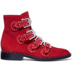 Givenchy Red Chelsea Stud Boot