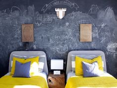 Every child should have a chalkboard wall (or at least a board). Here's how to make your own!