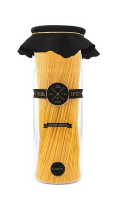 This one too, La Forma Saporita italian #pasta #packaging by Yanko Djarov.  Cute little hat PD.