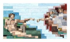 Adam Lister - Pixel Art Michelangelo. Art and technology can create the most amazing works of art