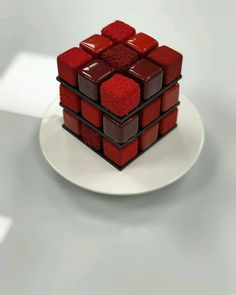 Mini Cakes, Cupcake Cakes, Grolet, Decoration Patisserie, Square Cakes, Fancy Desserts, Food Tasting, Christmas Desserts, Creative Food