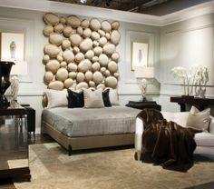 Unmistakeably Christopher Guy bedroom at Barrymore Furniture.