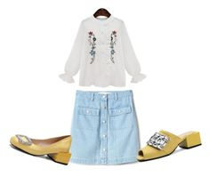 """""""Charming Blouse"""" by lee77 ❤ liked on Polyvore featuring beauty and Gap"""