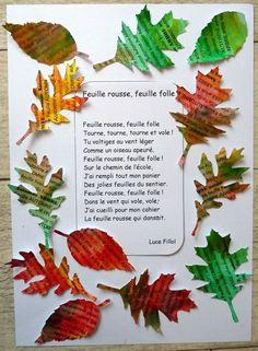 179_Arbre Automne_Feuilles de mots (24) Autumn Activities, Activities For Kids, Crafts For Kids, Autumn Art, Autumn Trees, Fall Arts And Crafts, Language Activities, Kids Songs, Nature Crafts
