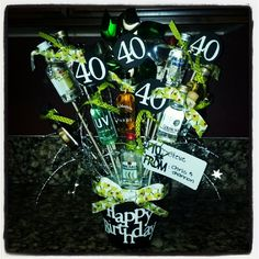 I made this tonight for a 40th party we're going to. Super fun, and easy! :)