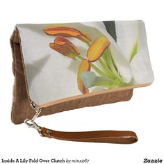 Inside A Lily Fold Over Clutch