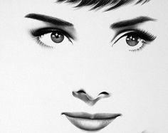 Joan Crawford Bleistiftzeichnung Hampel Portrait klassische