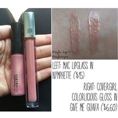 Dupethat : MAC Nymphette Lipglass Dupes