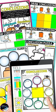 Drawing conclusions low prep reading comprehension strategy graphic organizers - Teaching reading comprehension in Goole Classroom, printable graphic organizers for kids, reading graphic organizers for nonfiction and fiction reading skills, drawing conclusions anchor chart
