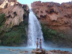 Havasu Falls, Grand Canyon on the Havasupai Indian Reservation.