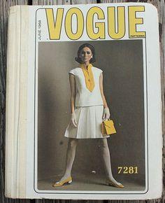Vintage Vogue Pattern Book Counter Catalog 60s Paris Couturier Ricci Dior 1960s